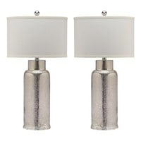 Bottle Bronze Glass Table Lamp Set of 2