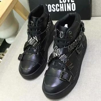 Moschino Women Fashion Casual Short Boots Sneakers Sport Shoes