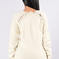 Break Hearts Not Necks Sweater - Ivory