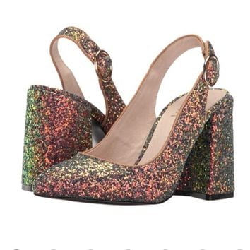 NO OFFERS Shelly's London Glitter Peacock heels!