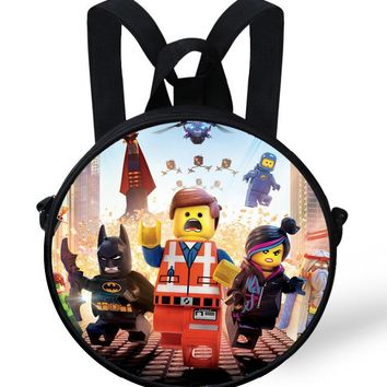 Cartoon baby kindergarten Bags round backpack kids school bags for girls bags children Batman ninjago toddler boys backpack