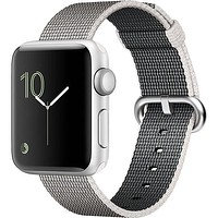 Apple Watch Series 2, 38mm Silver Aluminum Case with Pearl Woven Nylon Band