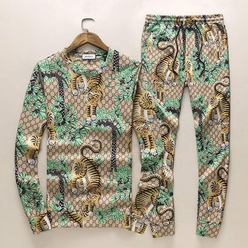Gucci Top Sweater Pullover Pants Trousers Set Two-Piece Sportswear