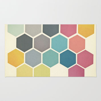 Honeycomb II Rug by Cassia Beck
