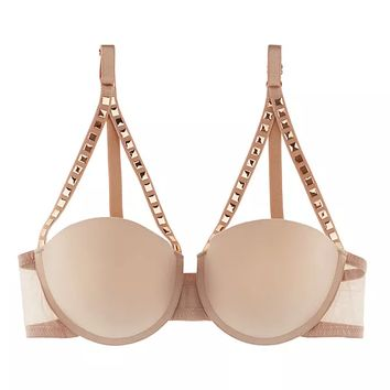 ID Sarrieri | Notting Hill Nude Studded Bra - $163.00