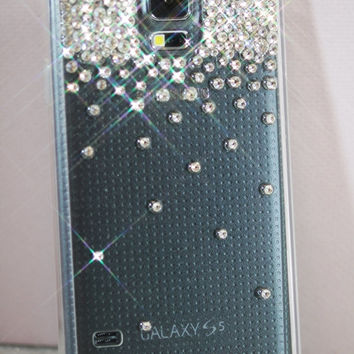 Samsung Galaxy S5 case with Swarovski elements, Swarovski crystals Transparent Samsung Galaxy S5 case