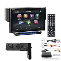 """Boss Audio 7"""" Motorized Touchscreen Monitor w-Detachable Front Panel DVD Player MP4-MP3 Compatible Receiver w-Remote"""