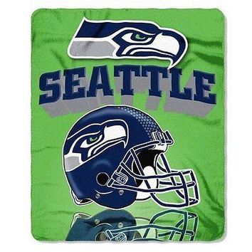Northwest Seattle Seahawks Gridiron Fleece Throw
