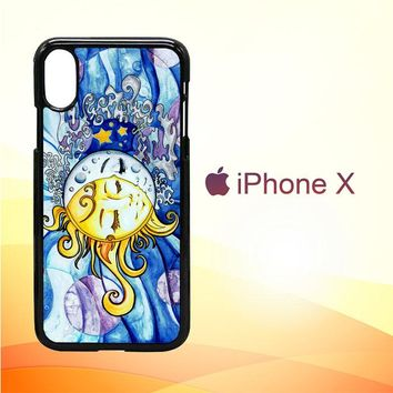 SUN AND MOON Z1074 iPhone X Case