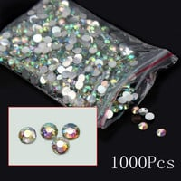 1000Pcs Nail Art Fashion Flatback Crystal AB Resin Women Jewelry Round Rhinestone 14 Facets Beads 4mm Gift = 1933116932