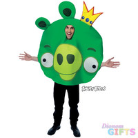 Men's Costume: Angry Birds King Pig One Size