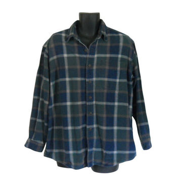 Lumbersexual Blue Flannel Shirt 90s Grunge Flannel Shirt Men Flannel Shirt Plaid Flannel Shirt Lumberjack Flannel Men Cotton Shirt Men Shirt