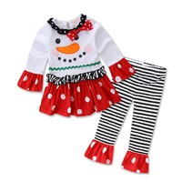 Boutique Girl's Christmas 2 Piece Outfits- 7 Styles