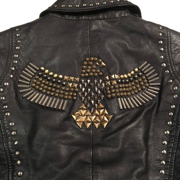 Scully Lambskin Eagle Biker Jacket
