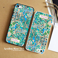 Tiger And Zebra Art- Lilly Pulitzer iPhone Case Cover for iPhone 6 6 Plus 5s 5 5c 4s 4 Case