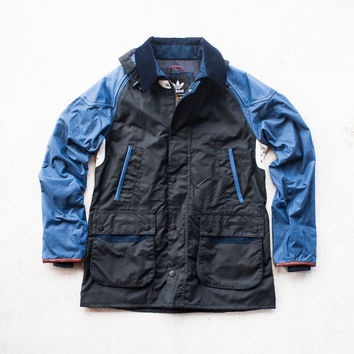 adidas Originals x Barbour Johbar Luxury Jacket - Navy