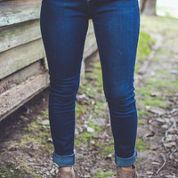 Classic Skinnies in Dark Denim