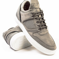 Filling Pieces Low Top Transformed Grey Pleated Sneaker