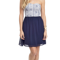 Making Waves Strapless Sweetheart Dress