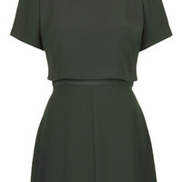 Overlay Skater Dress - Emerald