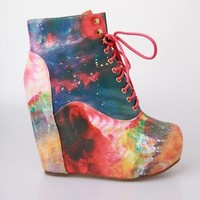 Vintage Shoes Galaxy Wedge - Multi