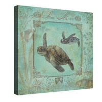 Turtle Family Canvas Wall Art
