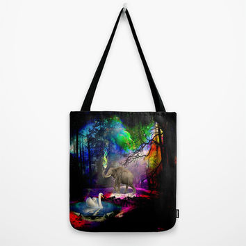 Fantasy forest Tote Bag by Haroulita