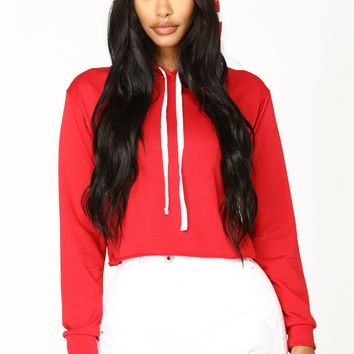 Boy Bye Long Sleeve Top - Red