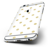 The White and Gold Foil Polka v12 Six-Piece Skin Kit for the iPhone 6/6s or 6/6s Plus