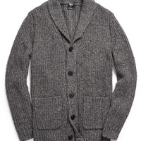 Oversized Shawl Collar Cardigan in Dark Grey