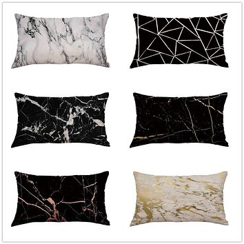 Marbleized Satin Pillowcase Sets to Prevent Curly Hair Damage and Dryness