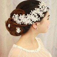 2017 New Arrival Hairwear Pearl Jewelry Bridal Hair Combs Hairpin Tiara Wedding Hair Accessories For Brides Wedding Accessories