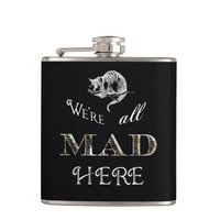 Cheshire Cat Mad Alice Flask