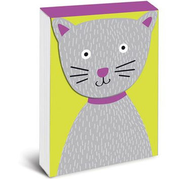 Grey Kitty Pocket Notepad