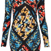 Cutout Floral Bodycon Dress - Bodycon Dresses - Dresses - Clothing - Topshop USA
