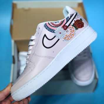 HCXX N366 Nike Air Force 1 AF1 China Annual Fireworks Embroidery Skate Shoes Pink