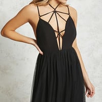 Caged Tulle Maxi Dress
