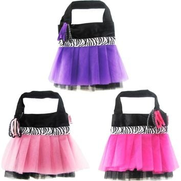 zebra tutu tote bags with hair bands Case of 48
