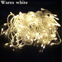 led string light 10M 80led AC220V colorful holiday led lighting waterproof outdoor decoration light christmas light