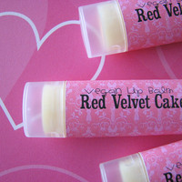 Red Velvet Cake - Lip Balm - Natural - Vegan - No sweeteners - Valentine Lip Balm -Chocolate - Cream Cheese Frosting -Bath and body