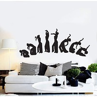 Vinyl Wall Decal Belly Dance Dancing Girl Woman Stickers Mural Unique Gift (143ig)