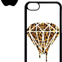 Leopard Dripping Diamond Dope Mobile Cell Phone Case Cover iPhone 5c White