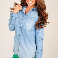 Tried And True Shirt: Denim | Hope's