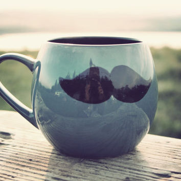 Funny Valentine Gift  Mr Teacup's big moustache hug by MrTeacup