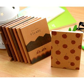 12.5*9cm old paiting lovely cute notebook daily book Stationery office school supplies