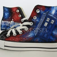 Doctor Who/converse/hand painted shoes/canvas shoes