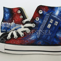 DOCTOR WHO/CUSTOM/converse/ gift/hand painted /canvas shoes/