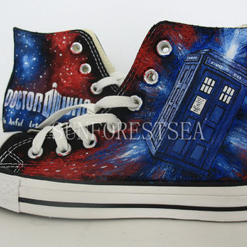 3797ebedad9fd3 Doctor Who converse hand painted shoes canvas shoes