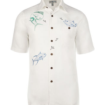 Men's Fish Bounty Embroidered Fishing Shirt