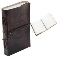 Classic Embossed Leather Journal Diary (Handmade) with leather strap closure - 25% off SALES!